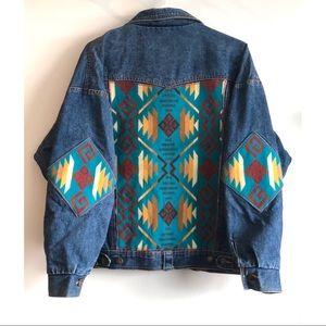 Pendleton Wool & Vintage Denim Jean Jacket Size M